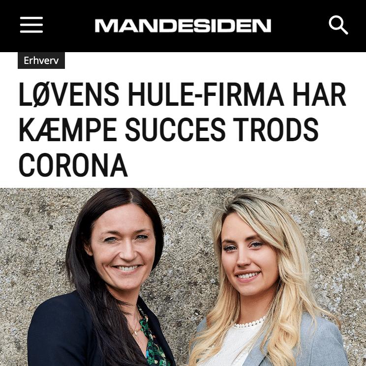LØVENS HULE-FIRMA HAR KÆMPE SUCCES TRODS CORONA