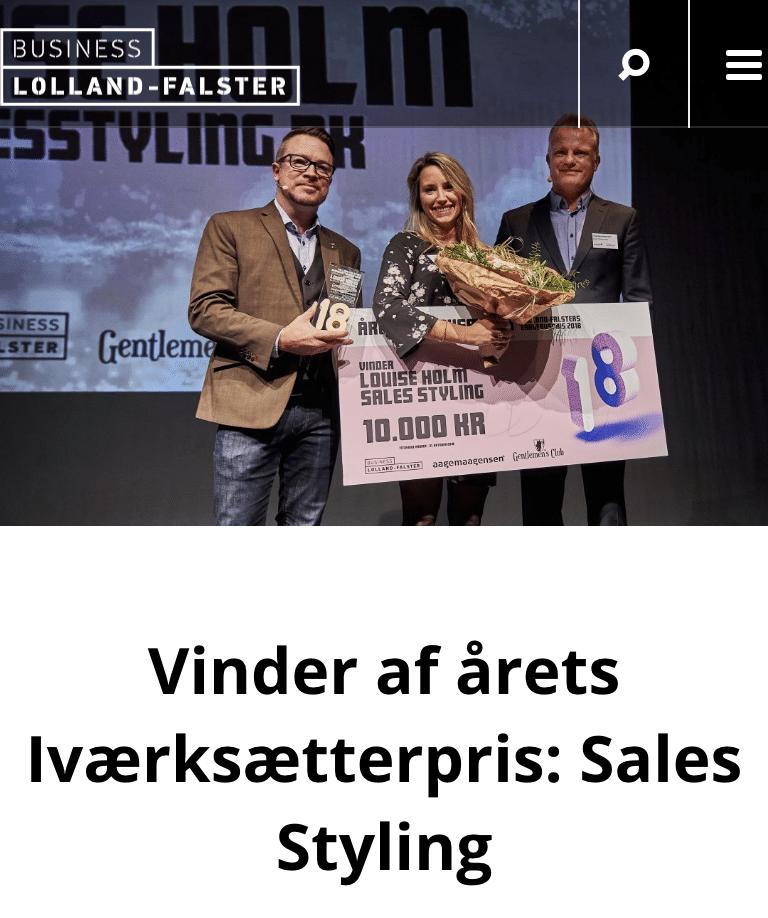 Vinder af årets Iværksætterpris: Sales Styling