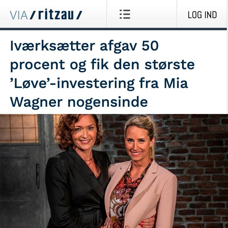 Iværksætter afgav 50 procent og fik den største 'Løve'-investering fra Mia Wagner nogensinde